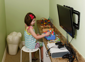 A girl Playing in the Office