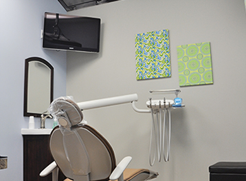 A Dental Chair with TV